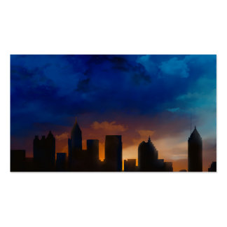 ATLANTA GEORGIA SKYLINE Double-Sided STANDARD BUSINESS CARDS (Pack OF 100)