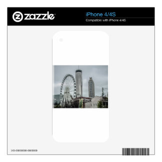 Atlanta Georgia skyline Decal For The iPhone 4S
