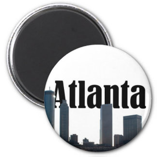 Atlanta Georgia Skyline with Atlanta in the Sky 2 Inch Round Magnet
