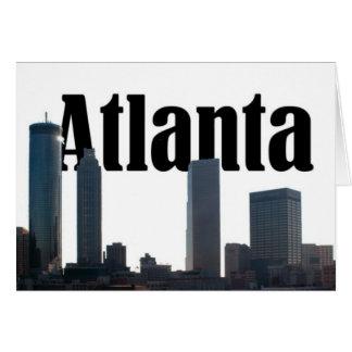 Atlanta Georgia Skyline with Atlanta in the sky Card