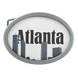 Atlanta Georgia Skyline with Atlanta in the Sky Oval Belt Buckle