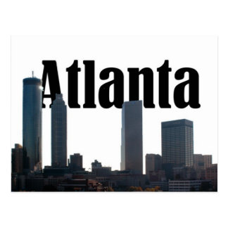 Atlanta Georgia Skyline with Atlanta in the sky Postcard