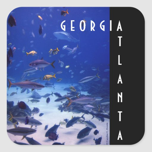 Atlanta Georgia Square Sticker