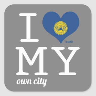 Atlanta | Georgia Square Sticker