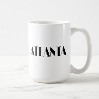 Atlanta Georgia Typographic design Classic White Coffee Mug