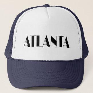 Atlanta Georgia Typographic design Trucker Hat