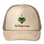 Atlanta -- Green Blue & Orange Trucker Hat