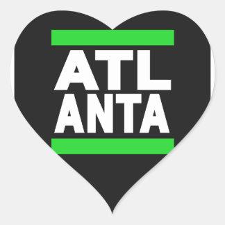 Atlanta Green Heart Sticker