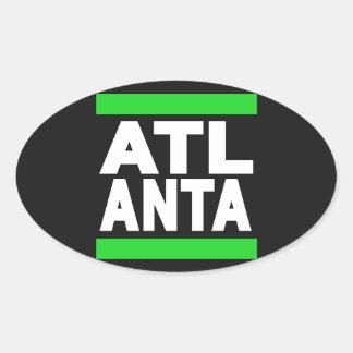 Atlanta Green Oval Sticker