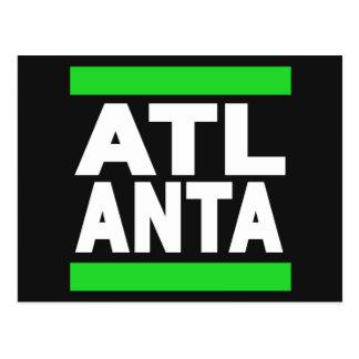 Atlanta Green Postcard