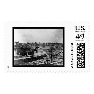 Atlanta Lard Oil Factory and Railroad Cars 1864 Stamp