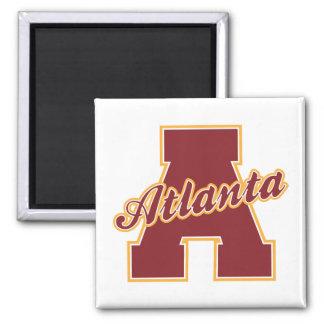 Atlanta Letter 2 Inch Square Magnet