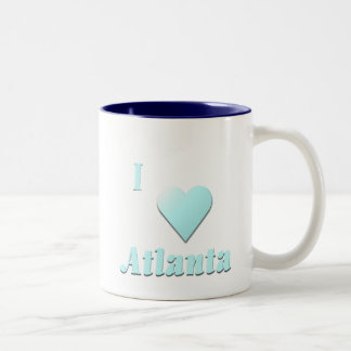 Atlanta -- Light Blue Two-Tone Coffee Mug