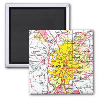 Atlanta Map Magnet