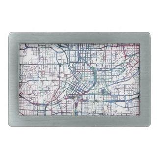 atlanta map painting rectangular belt buckle
