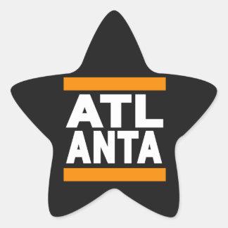 Atlanta Orange Star Sticker
