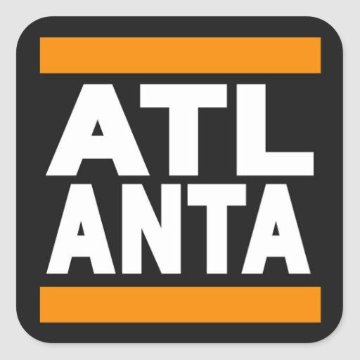 Atlanta Orange Sticker