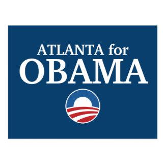 ATLANTA para el personalizado de Obama su ciudad p Tarjeta Postal