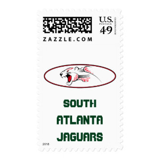 Atlanta Parks And Recreation South Atlanta Jaguars Postage Stamp