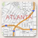 Atlanta Peachtree Road Map Coasters