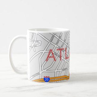 Atlanta Peachtree Road Map Classic White Coffee Mug