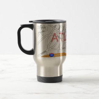 Atlanta Peachtree Road Map 15 Oz Stainless Steel Travel Mug
