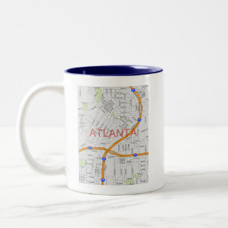 Atlanta Peachtree Road Map Coffee Mug