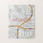 Atlanta Peachtree Road Map Puzzles