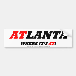 Atlanta Pegatina Para Auto