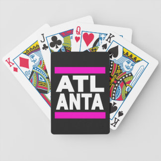 Atlanta Pink Bicycle Playing Cards