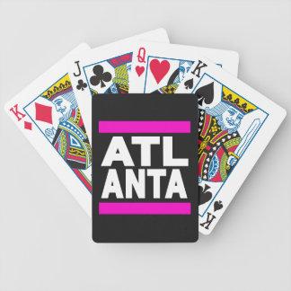 Atlanta Pink Bicycle Playing Cards