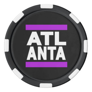 Atlanta Purple Set Of Poker Chips