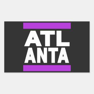 Atlanta Purple Rectangular Sticker