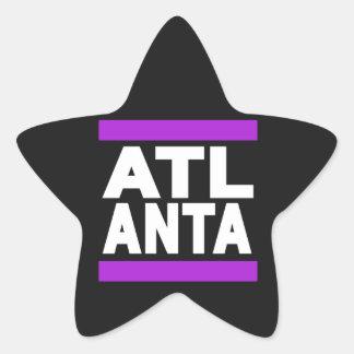 Atlanta Purple Star Sticker