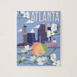 """Atlanta Puzzle<br><div class=""""desc"""">Whether you are an Atlanta resident or a visitor,  everyone can appreciate the awesomeness of A-Town!   This design is a perfect gift for that Georgia Peach in your life!</div>"""