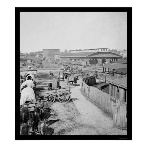 Atlanta Railroad Depot 1864 Print