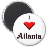 Atlanta -- Red & Black Magnets