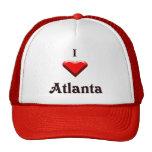 Atlanta -- Red & Black Mesh Hat