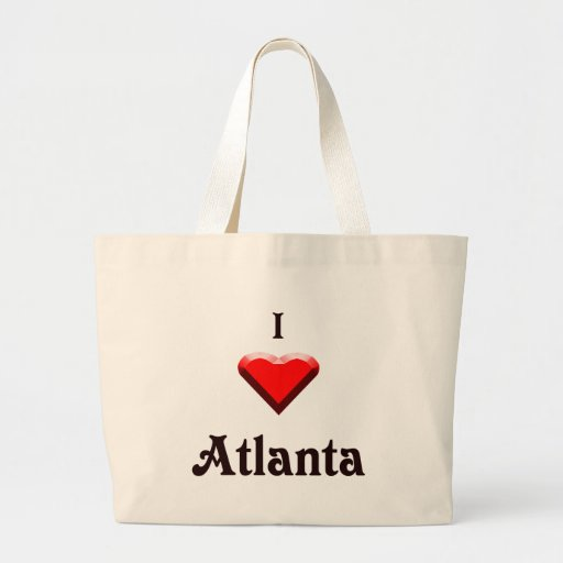Atlanta -- Red & Black Tote Bag