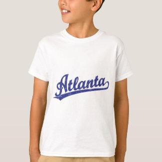 Atlanta script logo in blue T-Shirt