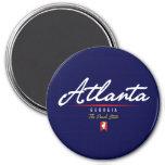 Atlanta Script Refrigerator Magnet