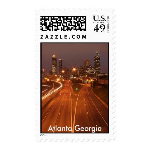 Atlanta Skyline, Atlanta Georgia Postage Stamp