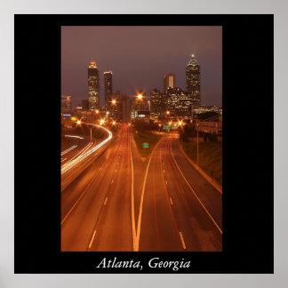 Atlanta Skyline, Atlanta, Georgia Poster