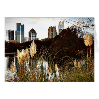 Atlanta Skyline from Piedmont Park Card