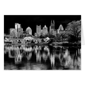 Atlanta Skyline in Black and White Card