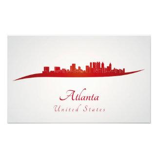 Atlanta skyline in red fotografía