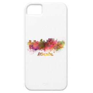 Atlanta skyline in watercolor iPhone SE/5/5s case
