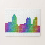 "Atlanta skyline jigsaw puzzle<br><div class=""desc"">Atlanta city skyline silhouette - multicolor line art</div>"