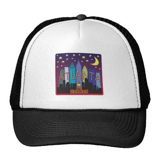 Atlanta Skyline mega color Trucker Hat