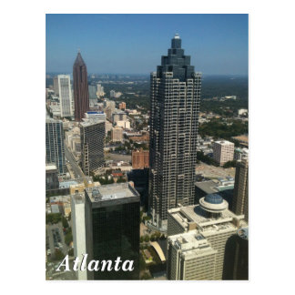Atlanta skyline postcard